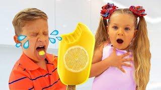 Diana makes fruit Ice Cream