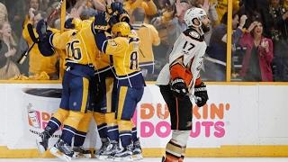Sissons' hat trick helps Predators oust Ducks, reach 1st Stanley Cup Final