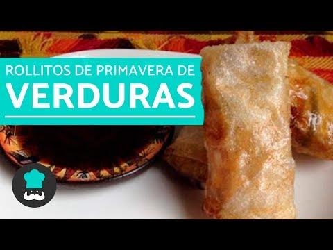 ROLLITOS de primavera de VERDURAS | Recetas de rollitos de primavera vegetarianos PASO A PASO
