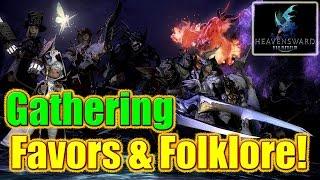 FFXIV Heavensward - Folklore Tomes & Favors / Gathering