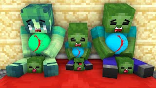 Monster School - Zombie Family Sad Story - Minecraft Animation