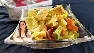 Anbraten im TM6 - Salat mit Hähnchenbrust