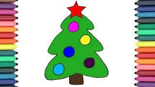 Learn To Draw A Christmas Tree For Kids