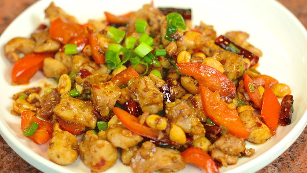 Kung Pao Chicken Recipe / 宫保雞丁 - YouTube