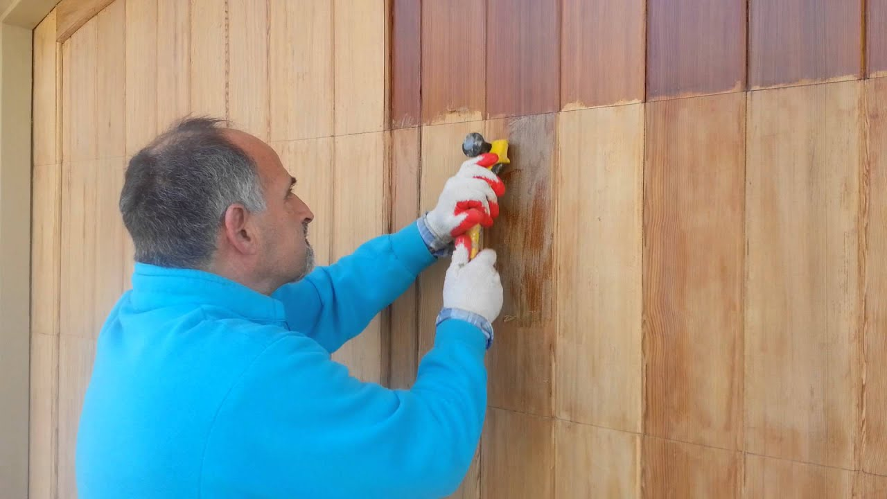 Stripping Varnish From Garage Doors