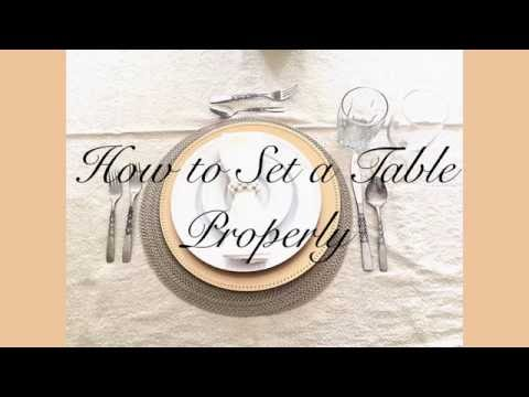 How To Set A Table Properly Home Decorating And