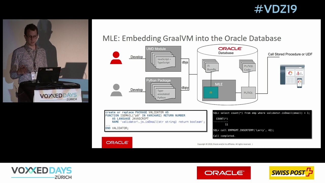 [VDZ19] GraalVM & Database Multilingual Engine by Lucas Braun and Julia  Kindelsberger