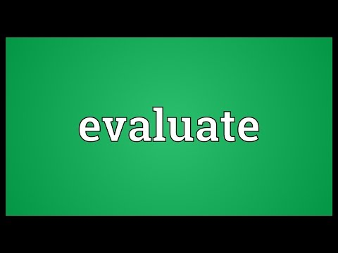 Evaluate Meaning