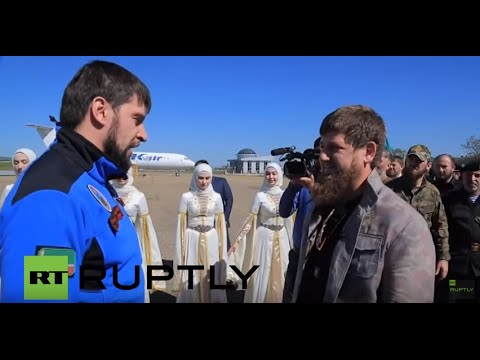 Russia: Kadyrov greets Chechen special forces on return from Arctic