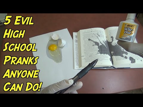 5 High School Pranks You Can Do In Class - HOW TO PRANK (Back To School)
