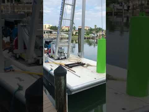 Dock construction barge