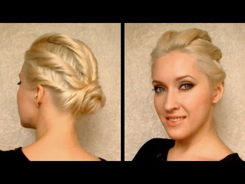 party hairstyle for prom wedding for medium long hair coiffure facile a faire cheveux mi long. Black Bedroom Furniture Sets. Home Design Ideas