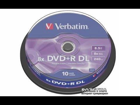 Распаковка, оптические диски Verbatim DVD+R 4,7 GB 16x Cake Box .