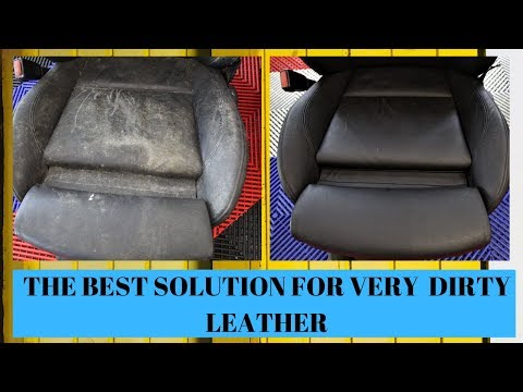 How to clean very dirty leather seats , Colourlock , car detailing by OCD Ferbane