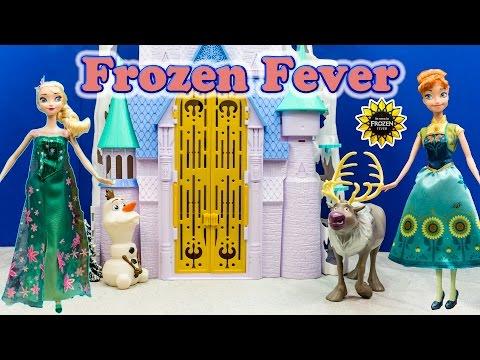 FROZEN Disney Frozen Queen Elsa & Anna Birthday Doll Frozen Fever Video Toy Review