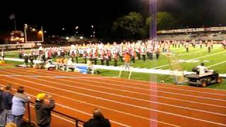 Parkside Marching Band - Swinging Eagles - 1st Game out 2009.