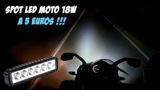Spot Longue portée LED MOTO 18w - 12v à 5 euros !!!!