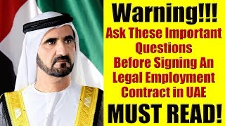 Expo 2020 Job in Dubai, UAE - Important Legal Questions You Must Ask