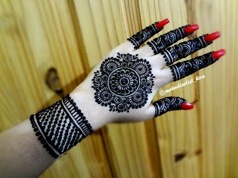 Beautiful Latest Simple Easy Trendy Mandala Gol Tikki Henna Mehndi Designs For Hands Eid,weddings