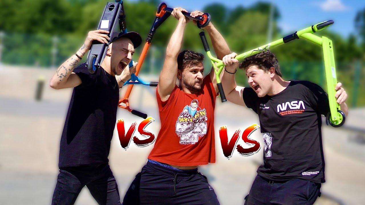 Freestyle Koloběžková Challenge! | Tary vs. Ivan vs. Jay Fox