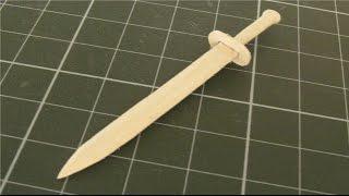 如何使從冰棒棍小劍 | 創意產品