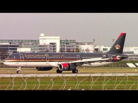 Royal Jordanian A321 (JY-ATV) Landing+Taxi at Munich Airport!