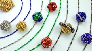 DIY Solar System Planets w/ magnets balls tricks Plaing with magnetic balls How to make Planets