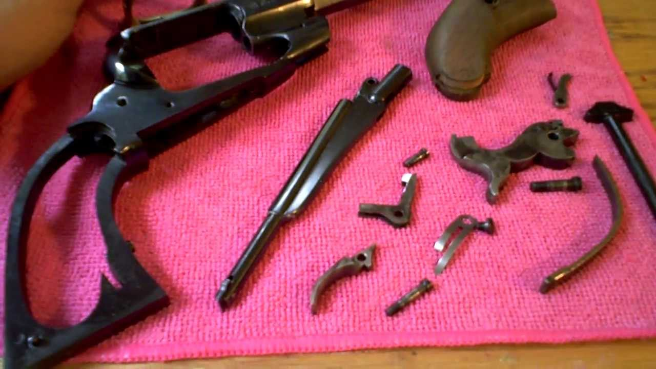 1858 Remington Pistol Stripped for Deep Cleaning & Inspection
