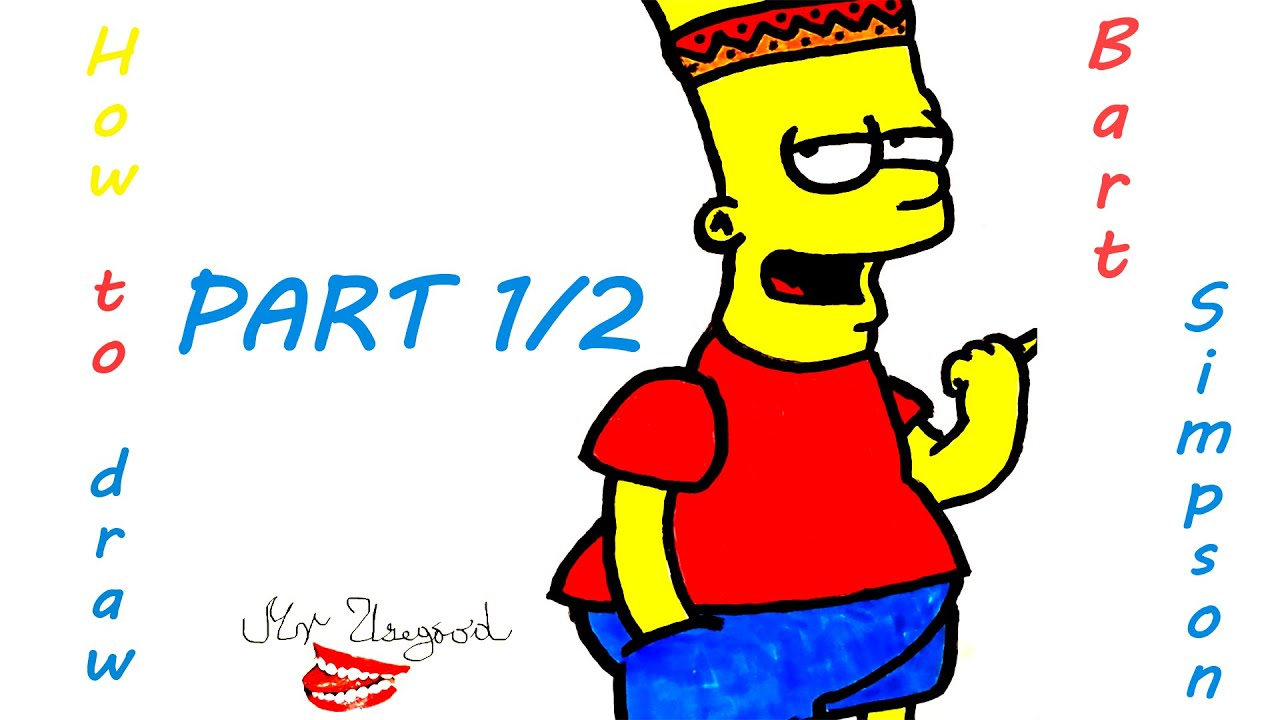 how to draw simpsons family step by step