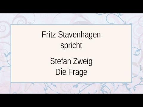 """Stefan Zweig """"Die Frage"""""""