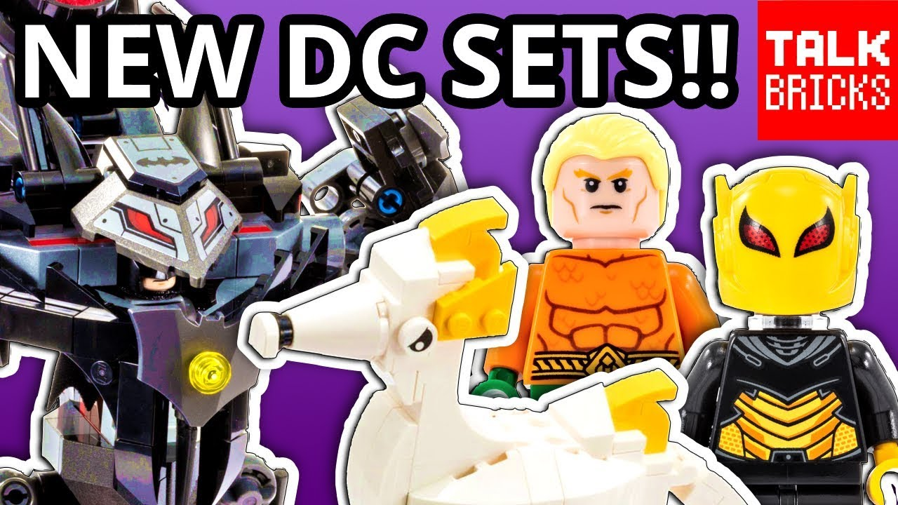 NEW LEGO DC Super Heroes Sets! 2019 Batman! SDCC Aquaman Exclusive!  App-Controlled Batmobile!