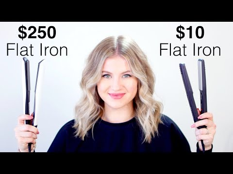 $10 Drugstore Vs $250 High End Flat Iron | Milabu