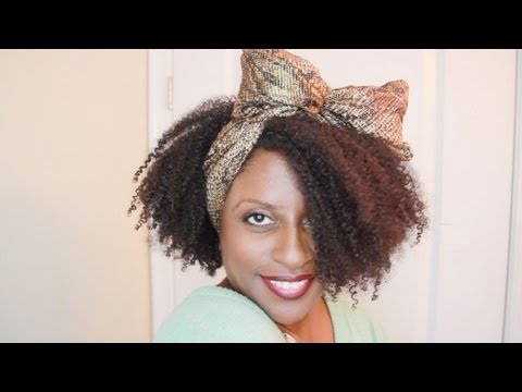 44. 80s hair scarf bow