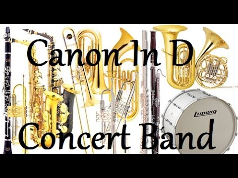 Canon In D Arrangement for Concert Band - Sheet Music and MIDI Included