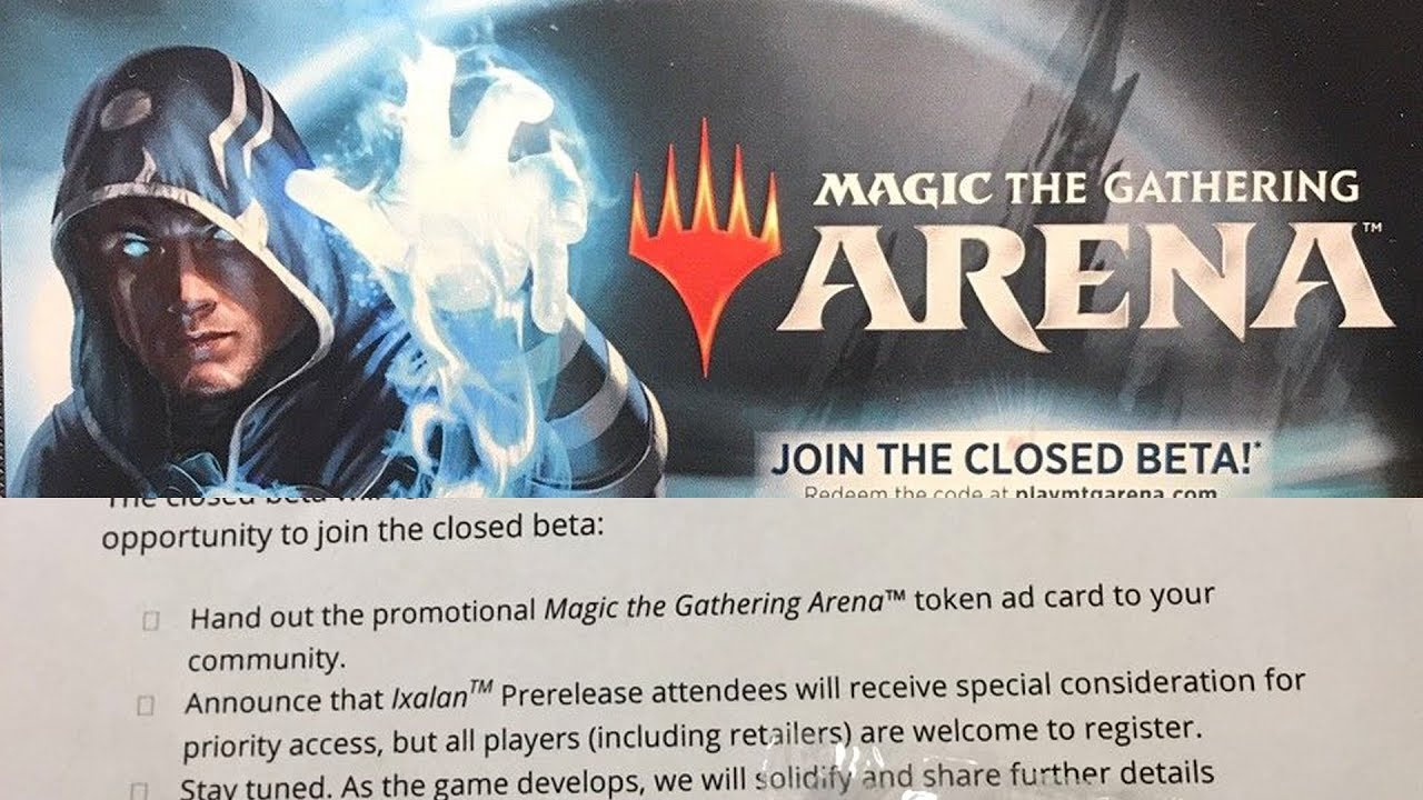 Arena Beta Access Cards + Arena Redemption Code Cards Mentioned in Leaked  WPN Letter