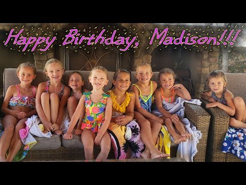 Madison's 5th Birthday! Backyard Pool Party!!