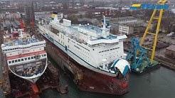 TT-Line - 3 Schiffe in der Remontowa Werft 2019/2020 - Tom Sawyer, Huckleberry Finn, Marco Polo