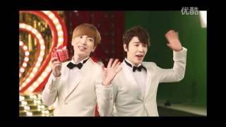 Lotte Duty Free 2012 CF - Super Junior & GaoYuanyuan Behind the Scenes cr: lotte for more updates, http://www.twitter.com/kikiikyu.