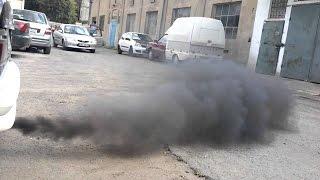 Мерседес w210, 2.7 cdi черный дым из глушителя, чистка коллектора