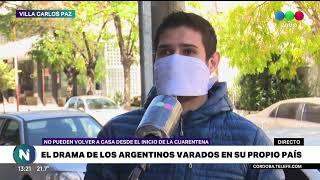 En Carlos Paz hay familias varadas y no saben ni cuándo ni cómo van a volver a sus casas