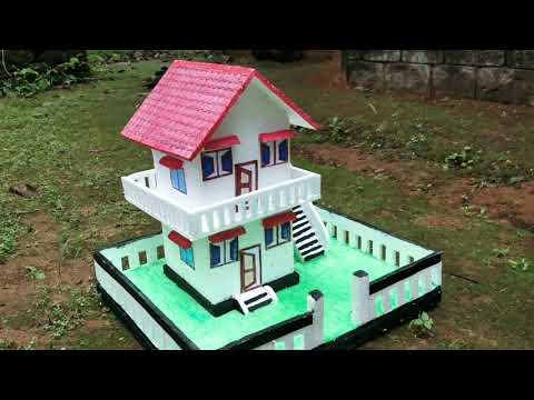 Download How to make Miniature Thermocol house with full dimension   DIY School project