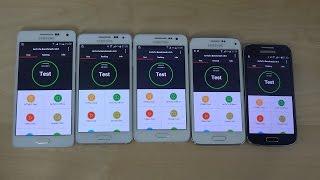 samsung galaxy a5 vs galaxy a3 vs galaxy alpha vs s5 mini vs s4 mini antutu speed test 4k