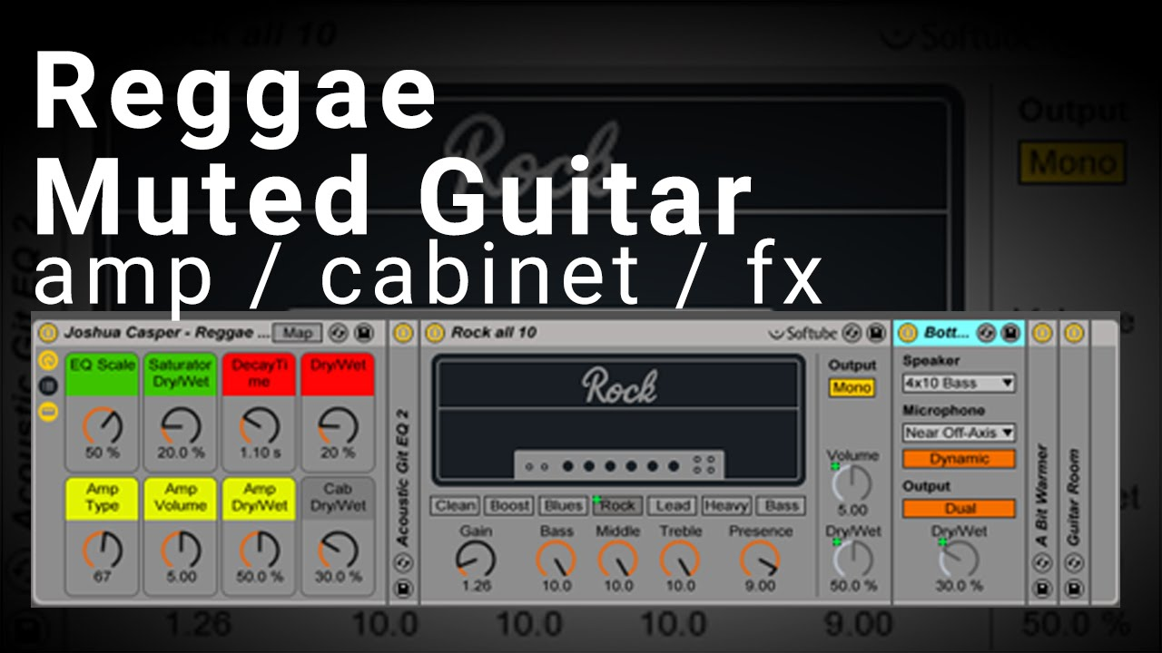 ableton live muted reggae guitar amp cabinet effects rack
