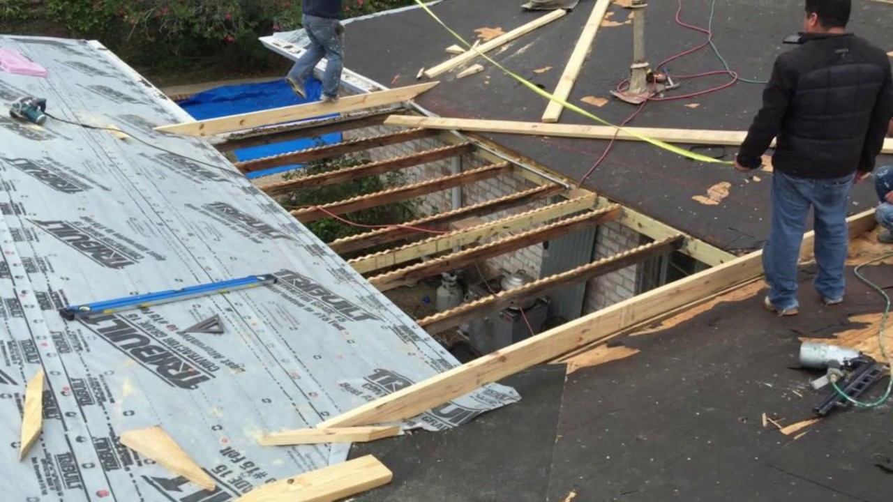 Rafter Framing For A Flat Roof Youtube