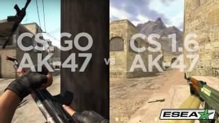 CS: GO vs CS 1.6 First Bullet Inaccuracy Comparison - Desert Eagle, AK-47, M4A1, M4A1-S, M4A4