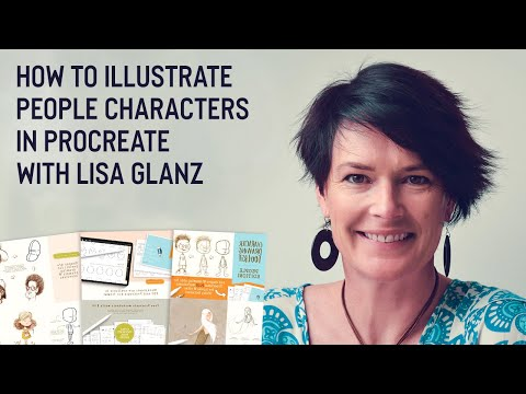 How to Illustrate People Characters in Procreate With Lisa Glanz