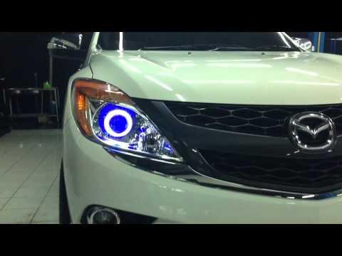 Mazda BT 50 PRO ขอโชว์ไฟหน้า เลนส์ไฟโปรเจคเตอร์ Back up light