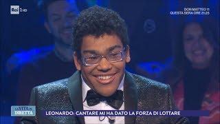 """Leonardo De Andreis: """"Cantare mi ha dato la forza di lottare"""" - La Vita in Diretta 22/03/2018"""