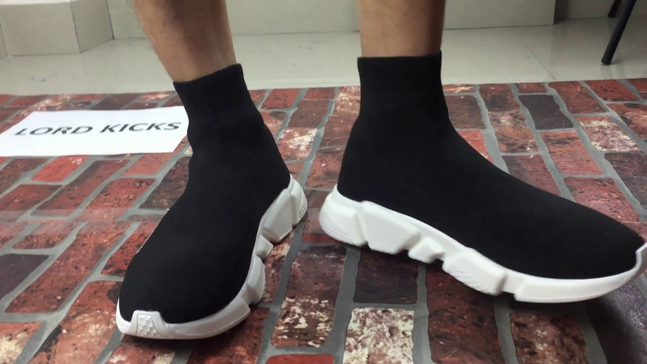 Balenciaga Speed Trainer, Sock Shoes On