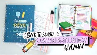 Mon ORGANISATION pour la FAC + CONCOURS - BACK TO SCHOOL 2017